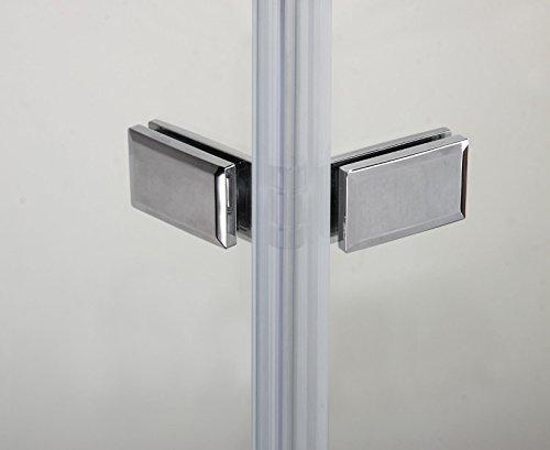 90x195cm Duschabtrennung Duschtür Nischentür Echtglas mit Nanobeschichtung (HN90-2E V2+1B V2) - 4