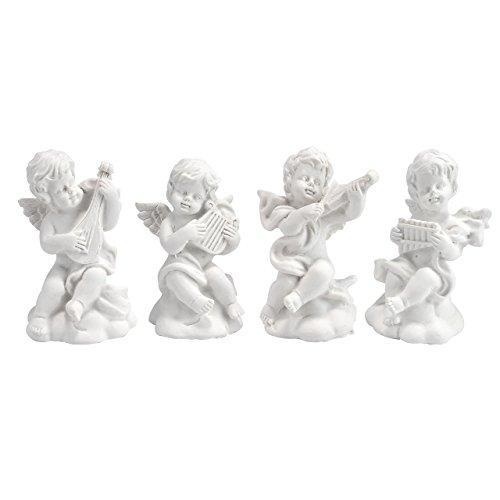 (JOVIVI Dekor Kleine Engel Figuren 4er Set Schöne Engelfiguren süße Tischdekoration - pro Engelfigur ca. 6 cm hoch)