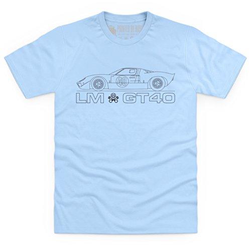 LM GT40 T-Shirt, Herren Blau Himmel