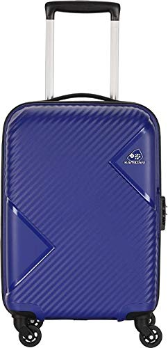 KAMILIANT by American Tourister Zakk Polypropylene 26 inch Hard Sided Royal Blue Expandable Check in Suitcase Trolley Luggage