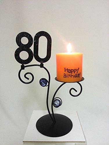 Leuchter Happy Birthday (80. Geburtstag)
