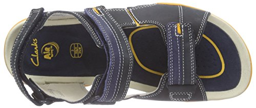 Clarks Kids Mirlo Air Jnr, Sandales garçon Bleu (Navy Leather)