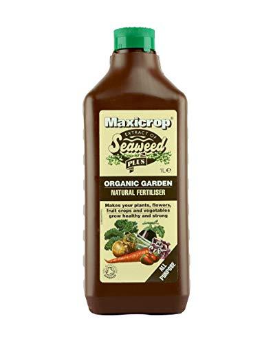 Maxicrop XNATF61L All Purpose Organic Garden Natural Fertiliser, 1 Litre, Brown