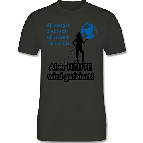 JGA Junggesellenabschied - Aber Heute wird gefeiert - Herren Premium T-Shirt Army Grün