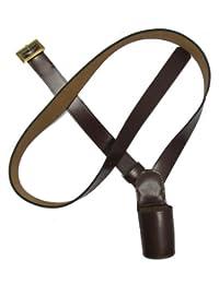 Uniform Store London Cross Belt,Flag Carrier,Belt Flag Holder,Brown Right Shoulder Miximum Size 76 Inch R285XL