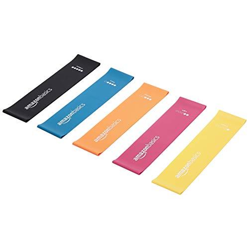 AmazonBasics -  Bandas de resistencia de látex,  600 mm,  juego de 5 uds.