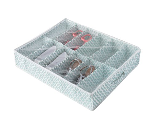 Compactor home ran7447custodia sotto il letto per 12paia di scarpe polipropilene verde e bianco 76x 60x 15cm