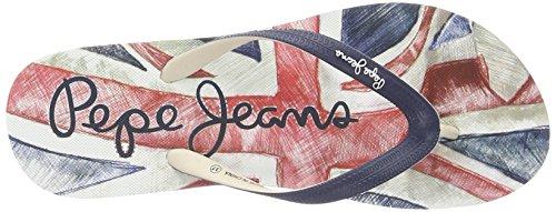 Pepe Jeans Rake Flag 17, Sandali Donna Blu (SAILOR)
