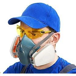 Masque a Gaz Super Doux Coffly ZT-32 Masque Respiratoire Réutilisable Demi-Masque Protection Respiratoire - Filtres Intégrés pour Une Protection Contre Gaz/Vapeurs et Particules
