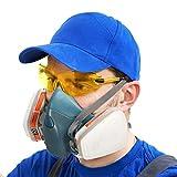 Maschera Antigas Ultra Morbida Coffly ZT-32 Maschera Antipolvere con Filtri Maschera Polvere Riutilizzabile Semimaschera Respiratori, Vapori e Particella per Verniciatura a Spruzzo,Levigatura, Polvere