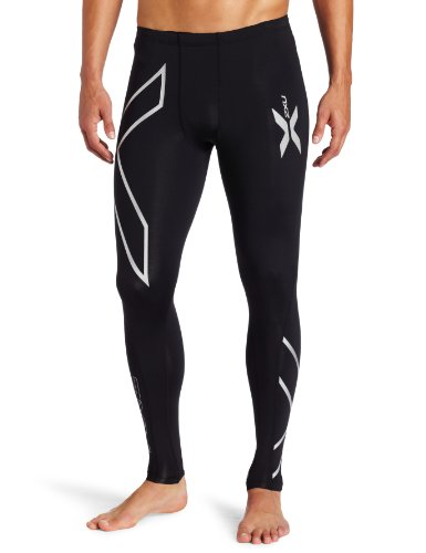 2XU PWX - Mallas de compresión largas para hombre, color negro, talla