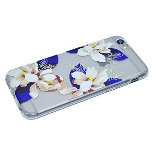 iPhone 6 Plus / 6S Plus Cover , IJIA Ultradünne Transparent Schöne Blumen der Klassischen TPU Weich Silikon Stoßkasten Hülle Handyhülle Schutzhülle Handyhüllen Schale Case Tasche für Apple iPhone 6 Pl XX33