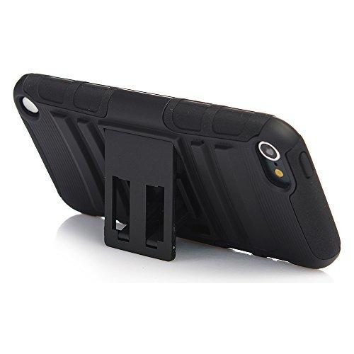 iPod Touch 6. Generation Hülle, robuste Hybrid-Dual-Layer Schutz Full-Cover Hülle mit Video ansehen Seitenständer Ständer für Apple iPod Touch 66. Gen. 55. Gen. Video Ipod Cover