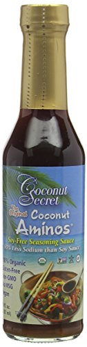 Coconut Secret Raw Coconut Aminos, Soy-Free Seasoning Sauce, 8 fl oz (237 ml) 1.7 x 1.9 x 7.9 inches