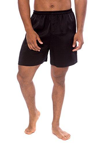 TexereSilk Herren Boxershorts, 100% Seide, Country Club - Schwarz - X-Large - Schwarze Seide Boxer Shorts