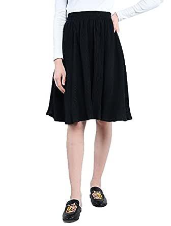 PepTrends Women's Pleated Knee Length Skirt
