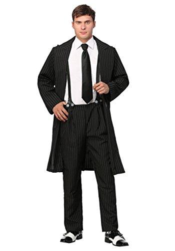Schwarzes Zoot Suit Kostüm - S
