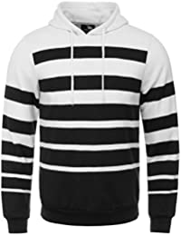 ETASSO Herren Gestreiftes Samt Kapuzensweatshirt Sweatshirt Hoodie Plus Mode  Mantel 895f5aad7e