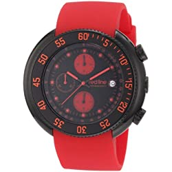 Red Line Diver Mens Red Silicone Date Chronograph Watch RL-50039-BB-01-RA