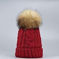 HAOLIEQUAN Cappelli da Donna Berretto A Doppio Strato Soffici Cappucci Invernali  da Donna Cappelli Femminili Copricapo 5ad2518aa57e