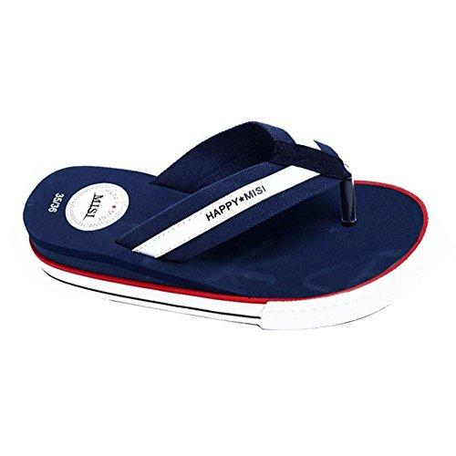 Minetom Femmes Sandales Chaussures de Plage Flip Flops Talon Compensé Plateforme Tongs Bout Ouvert Bleu