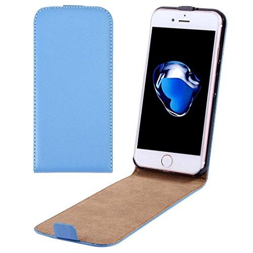 Casse del telefono mobile & Cover, Per il caso di cuoio di iPhone 7 Plus verticale flip Genuine Split ( Colore : Blu )