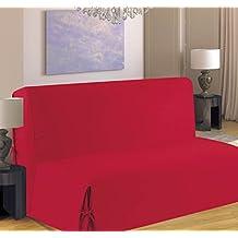 homemaison f516 82 housse de canap pour bz polyester bordeaux 190 x - Housse Canape Bz