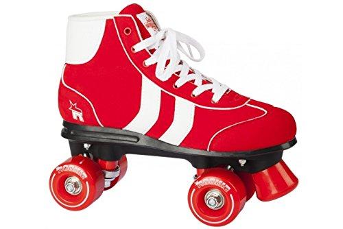 ROOKIE Mädchen Rollerskates Retro V2 RKE-SKA-036 37 Red/White