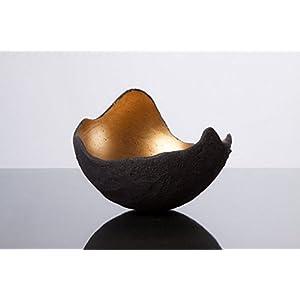 Lichtschale gold – M (20cm) – Beton schwarz – grau – Unikat handmade – Geburtstagsgeschenk – Einzigartiges Geschenk – Deko – Weihnachtsgeschenk