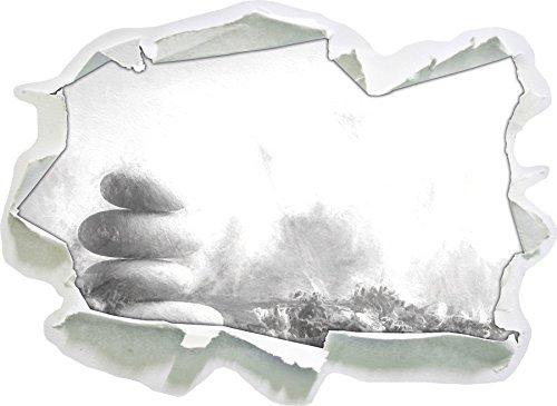 Stapel-effekte (Lavendel Spa-Stillleben Kunst Kohle Effekt, Papier 3D-Wandsticker Format: 92x67 cm Wanddekoration 3D-Wandaufkleber Wandtattoo)