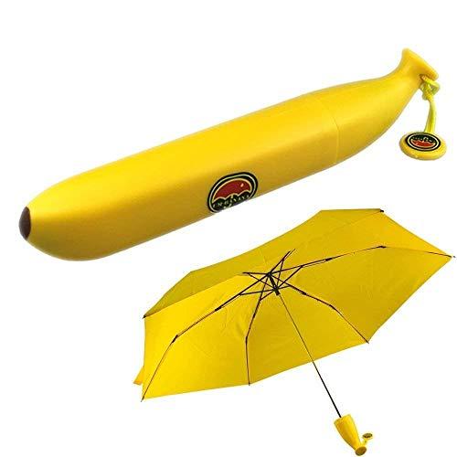 Epyz Folding Portable Sun, Rain Umbrella for Outdoor in Banana Shape (Yellow)