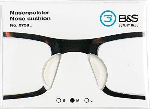Nasenpad zum aufkleben aus Silikon in verschiedenen Dicken - halboval - 18mm (2.4 - GR M)