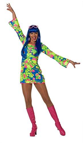 Kostüme 70's Kinder Für Disco (Karneval Klamotten Hippie Kleid Kostüm Damen Flower-Power Kostüm Damen neon Damen-Kostüm Größe)