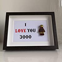 Iron Man LEGO® Minifigure I Love you 3000 Picture Frame