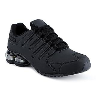 Herren Damen Sneaker Sportschuhe Lauf Freizeit Neon Runners Fitness Low Unisex Schuhe Schwarz-M EU 45
