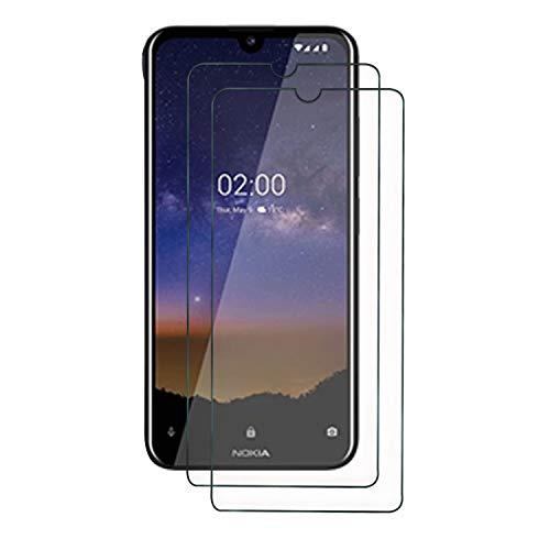 SUP Nokia 2.2 Displayschutzfolie aus gehärtetem Glas, [2 Stück] Premium Qualität, Schutzfolie, Hüllenfreundlich, bequem, abgerundete Kanten, bruchsicher, Kratzfest, ölfest Invisible Screen Protector Guard