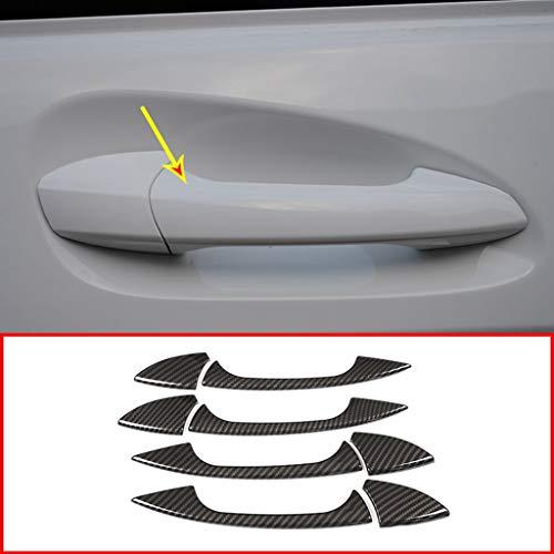 Style de Fibre de Carbone d'accessoires de poignée de Porte de Voiture de Plastique en Plastique de Chrome d'ABS pour la Classe W204 X204 de GLK GL ML
