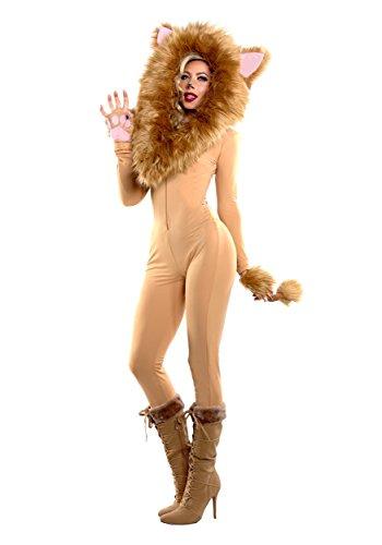 Women's Hooded Lion Fancy dress costume X-Large