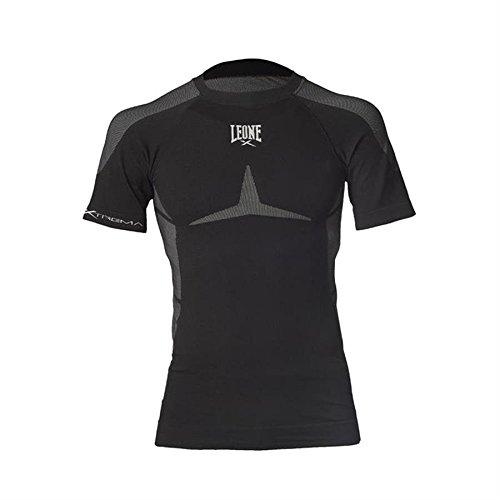 T-shirt a compressione - Leone 1947 - ABX12 Seamless Extrema (Nero, S-M)