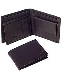 Linda Chiarelli portafoglio uomo vera pelle made in Italy blocco RFID grande portafogli con patella porta tessere, carte di credito e portamonete doppio scompartimento banconote vintage PORT259BK NERO