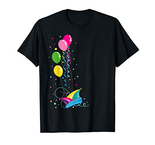 Shirt Narrenkappe Luftballons Konfetti ()