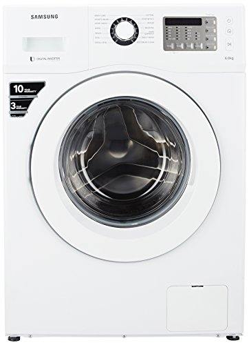 Samsung 6 kg Fully-Automatic Front Loading Washing Machine (WF600B0BHWQ, White)