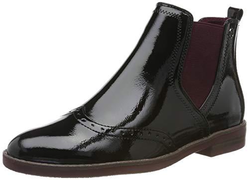 Tamaris Damen 1-1-25313-23 Chelsea Boots, Schwarz (Black Patent 18), 38 EU