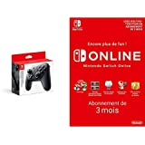Manette Nintendo Switch Pro + Switch Online 3 Mois [Download Code]