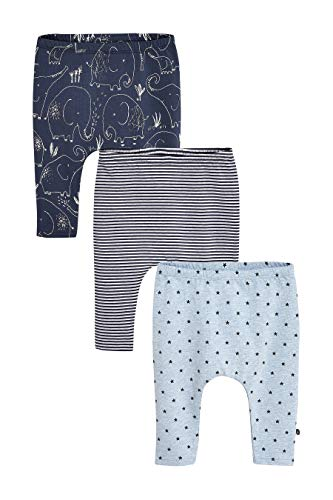 next Baby - Jungen Print-Leggings 3Er-Pack Marineblau 6-9 Monate