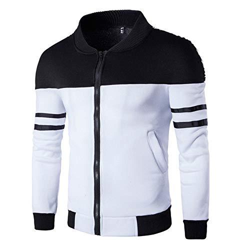 LIMITA Mode Herren Herbst Winter Zipper Sportswear Patchwork-Jacke Langarm Mäntel Stehkragen Bomberjacke Motorradjacke Baseball Jacke