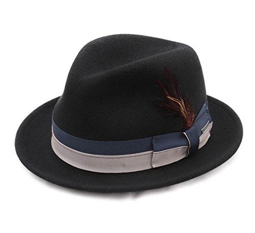 Stetson - Chapeau Trilby Pliable imperméable Feutre - 2 Coloris - Homme ou Femme Manhattan Vitafelt