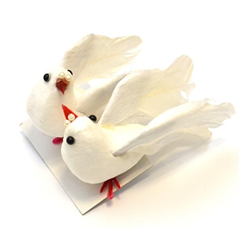 Taube, klein, weiß 1 Paar = 2 Stck., 9cm -