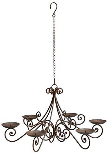 HFG Hängeleuchter für 6 Kerzen Kerzenleuchter Kronleuchter Metall D 53 cm - Metall-kronleuchter