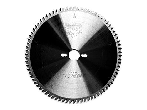 jjw-germany HM - Kreissägeblatt Sandra 250 x 30 Z= 80 WZ für Tisch oder Formatkreissäge, 1 Stück, 4250980600691